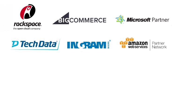 Blue Link Design Strategic Business Partners - Rackspace, IngramMicro, TechData, Amazon Web Services, Microsoft, BigCommerce