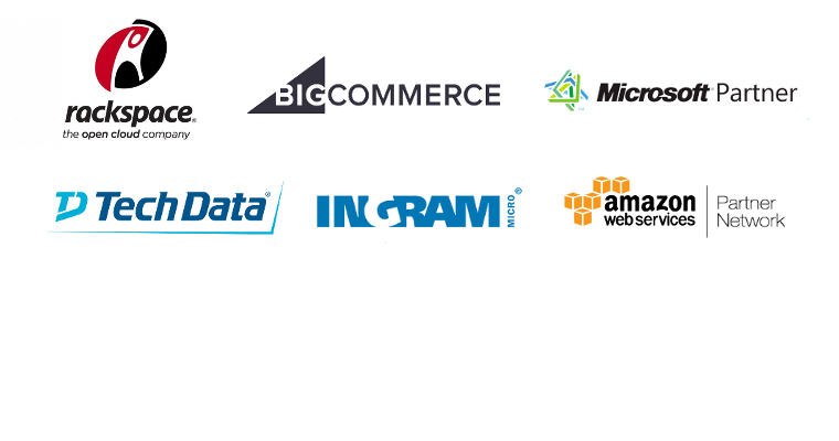 Blue Link Design Strategic Business Partners - Rackspace, IngramMicro, TechData, Amazon Web Services, Microsoft, BigCommerce